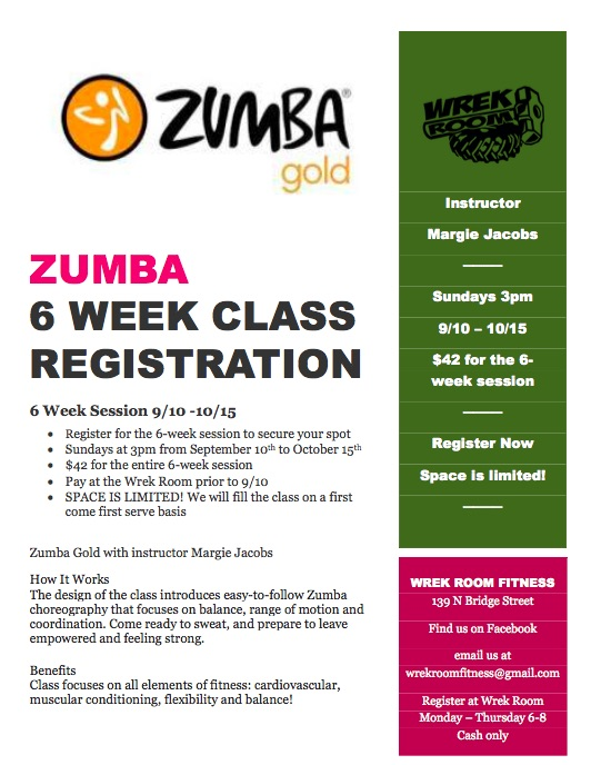 Zumba with right date